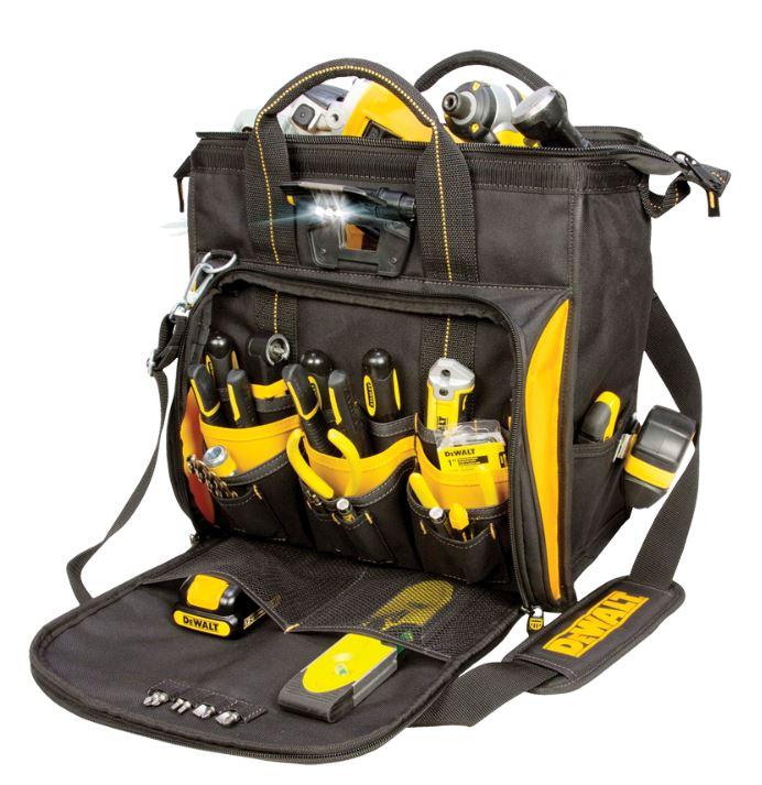 109708 Dewalt 41 Pocket Lighted Technician S Tool Bag