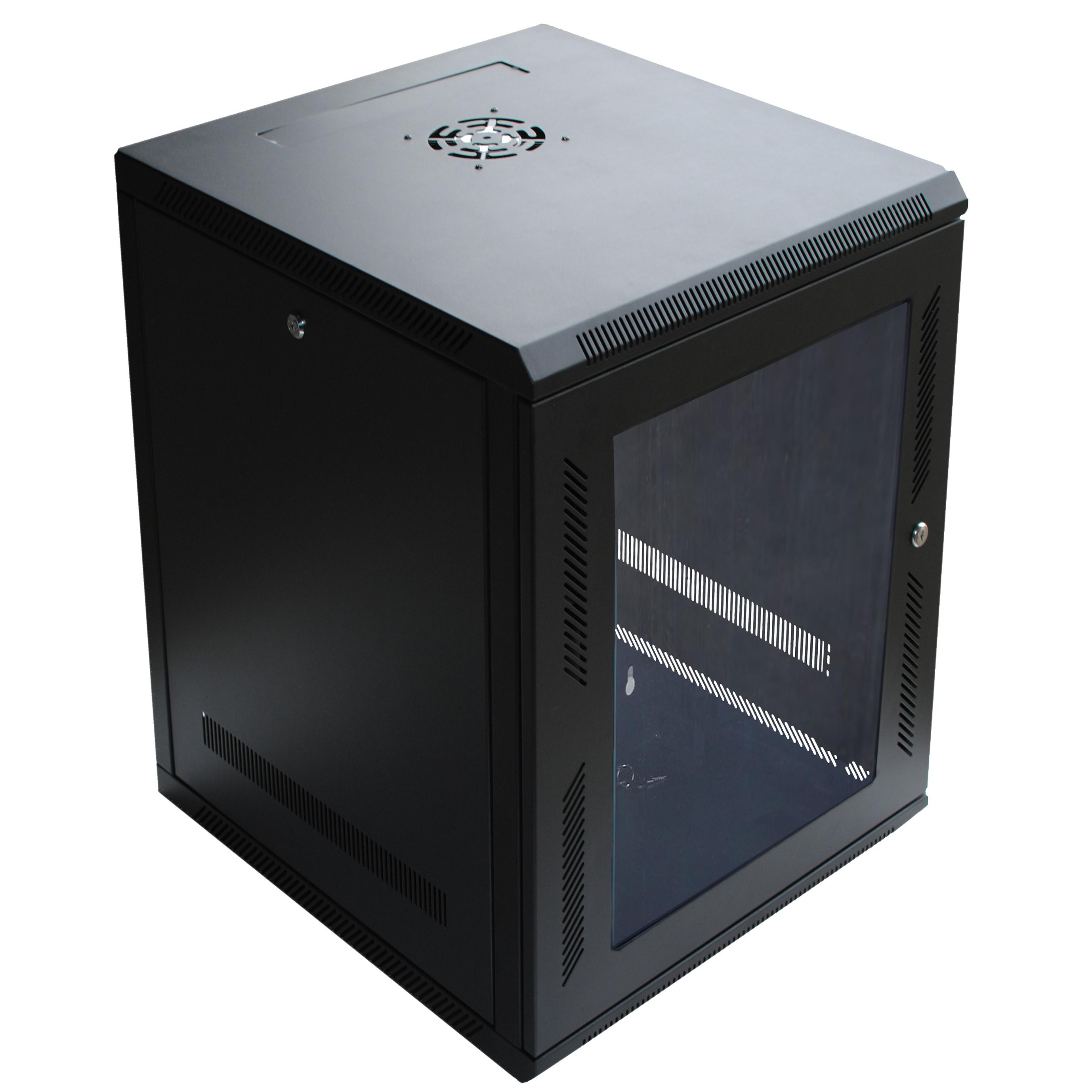 120278BK   15U Wall Mount Cabinet Rack W/Locking Glass Door U0026 Cooling Fan    18 Nice Ideas