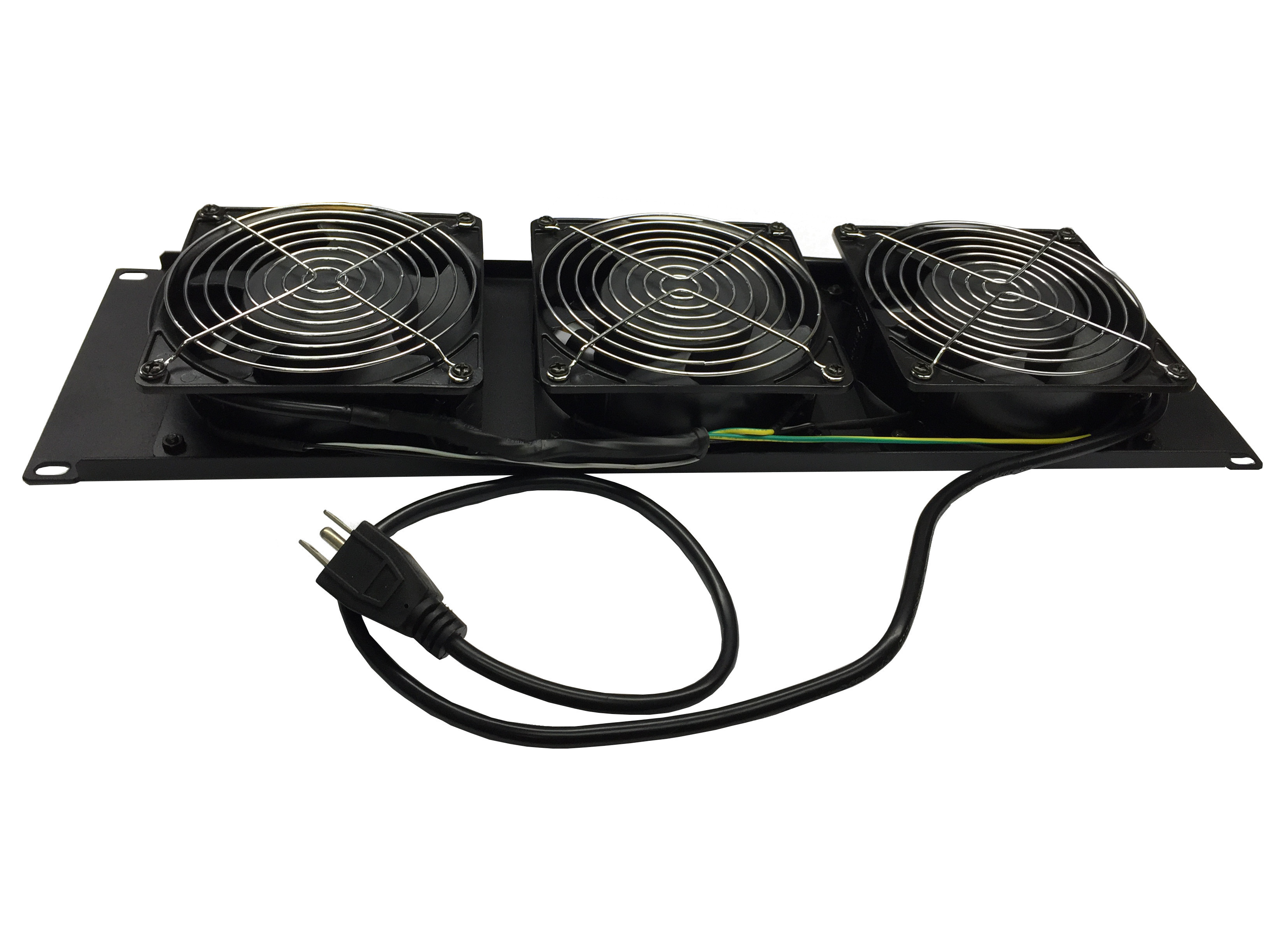 "120139 - 19"" Rack Mount Cooling Fan Panel with 3 Pre-Installed Fans - 3U"