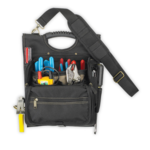 109517 - Custom LeatherCraft (CLC) - 21 Pocket Zippered Professional Electrician's Tool Pouch