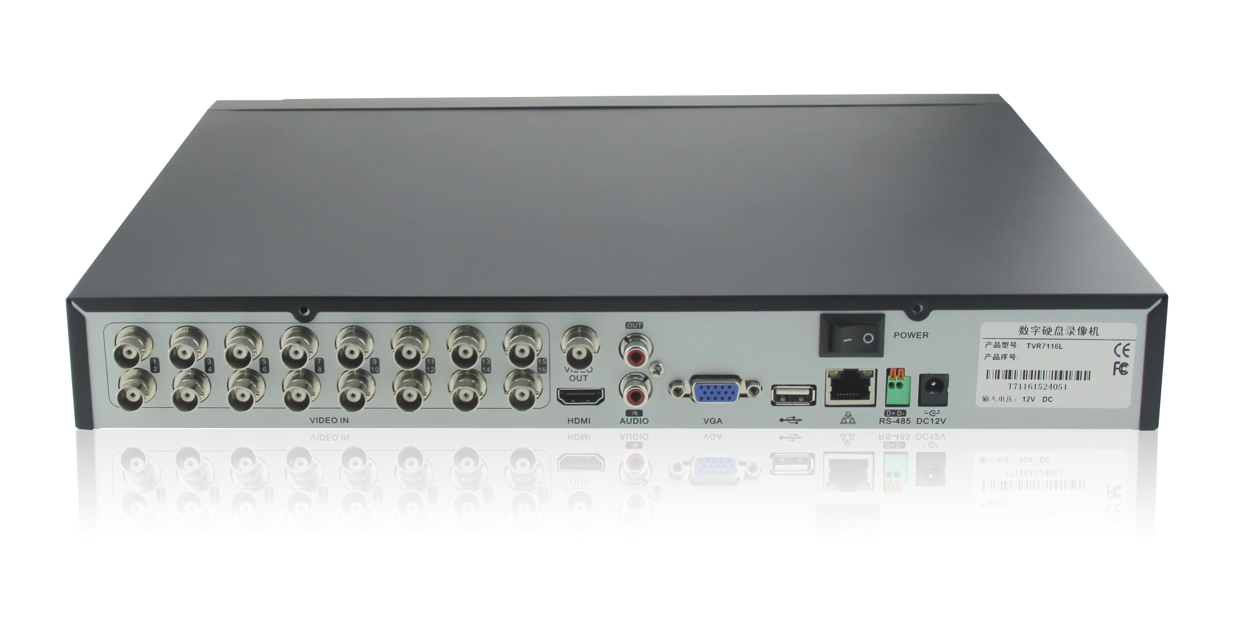 245TVR16 - 16-Channel HD-TVI DVR