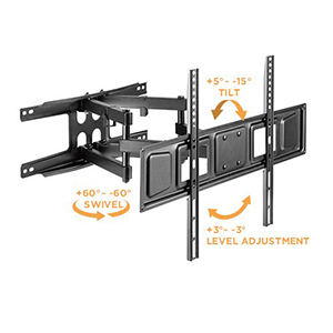 "309088BK - Full-Motion Dual-Arm TV Wall Mount: 37""-80"" Screens"