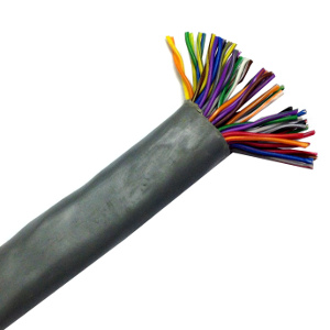 100139GY/250 - CAT3 Cable, 25 Pair, UTP, Riser Rated (CMR), Solid Bare Copper - Grey - 250ft