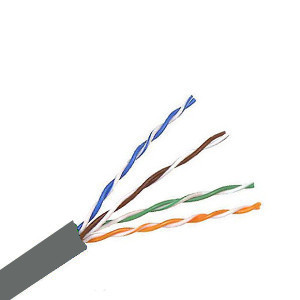 101151-S-GY - CAT5e Shielded Cable, 4 Pair, FTP, Riser Rated (CMR), Solid Bare Copper - Grey - 1000ft