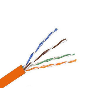 101905OR - CAT5e 350MHz Cable, 4 Pair, UTP, CM, Stranded Bare Copper - Orange - 1000ft