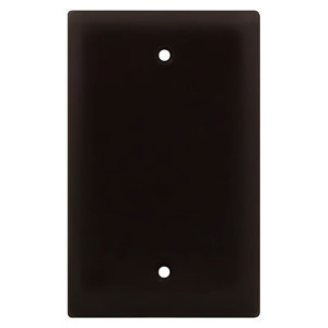 102100BK - Blank Wall Plate - Black