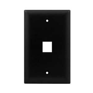 102101BK - 1-Port Keystone Wall Plate - Black