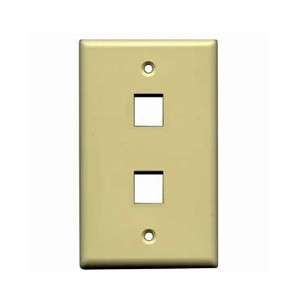 102102IV - 2-Port Keystone Wall Plate - Ivory