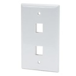 102102WH - 2-Port Keystone Wall Plate - White