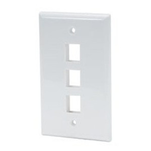 102103WH - 3-Port Keystone Wall Plate - White