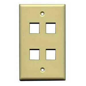 102104IV - 4-Port Keystone Wall Plate - Ivory
