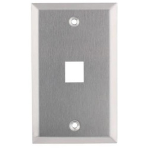 102151 - 1-Port Stainless Steel Wall Plate