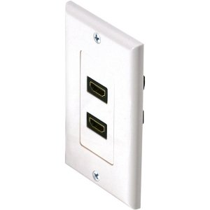 102171WH - 2-Port HDMI Wall Plate - White