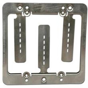 102192 - Low Voltage Mounting Bracket - Junction Box Eliminator - Double Gang - Steel