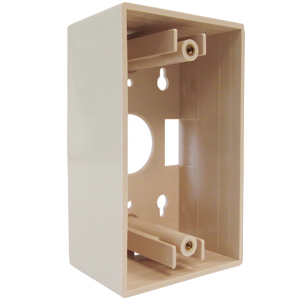 102196IV - Junction Box - Single Gang - Ivory