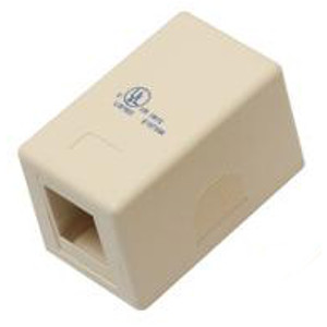 102301IV-A - 1-Port Keystone Surface Mount Box - Ivory