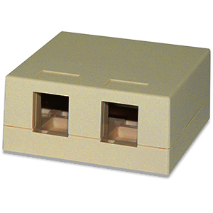 102302D/IV - 2-Port Keystone Surface Mount Box (Suitable for 8-in-a-row Jacks) - Ivory