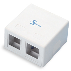 102302WH-A - 2-Port Keystone Surface Mount Box - White