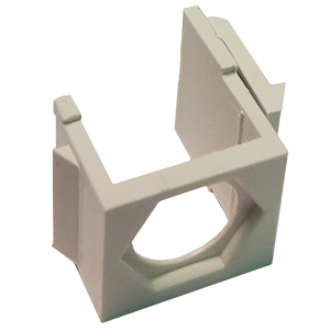 102606XAL - Blank Hex Panel Mount Keystone Insert - Almond
