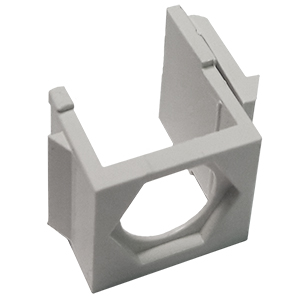 102606XWH - Blank Hex Panel Mount Keystone Insert - White