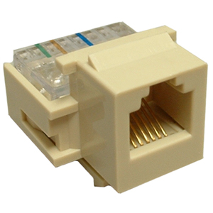 102630IV - CAT3 - RJ12 - Toolless Keystone Jack Insert - Ivory