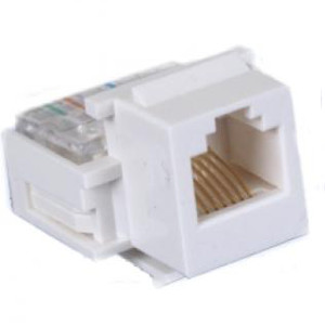 102630WH - CAT3 - RJ12 - Toolless Keystone Jack Insert - White