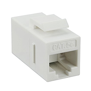 102640WH - CAT5e - RJ45 Female to Female - Keystone Coupler Insert - White
