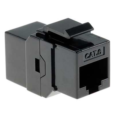102642BK - CAT6 - RJ45 Female to Female - Keystone Coupler Insert - Black