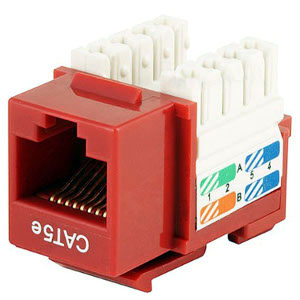 102650RD - CAT5e - RJ45 - Premium Punch Down Keystone Jack Insert - Red