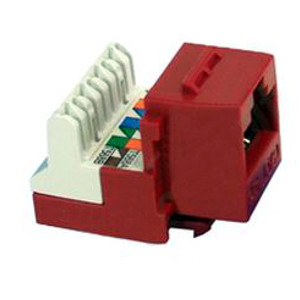 102654RD - CAT5e - RJ45 - 8-in-a-row Punch Down Keystone Jack Insert - Red