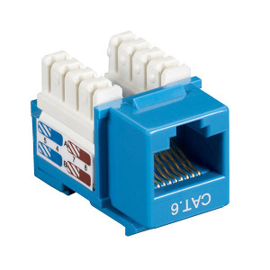 102660BL - CAT6 - RJ45 - Premium Punch Down Keystone Jack Insert - Blue
