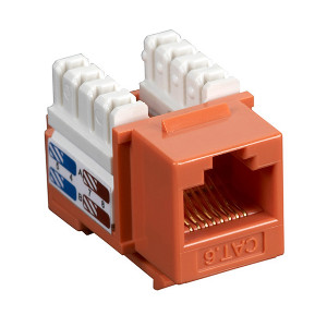 102660OR - CAT6 - RJ45 - Premium Punch Down Keystone Jack Insert - Orange