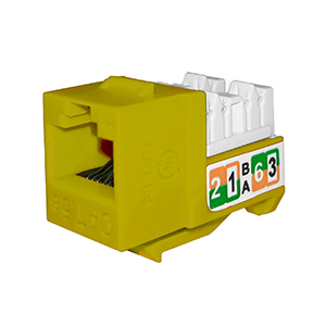 102710YL - APEX CAT5e - RJ45 - Punch Down Keystone Jack Insert - Yellow
