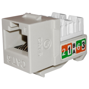 102720WH - APEX CAT6 - RJ45 - Punch Down Keystone Jack Insert - White