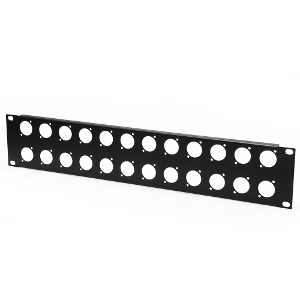 103181-24 - 24-Hole Chassis Mount Audio Rack Panel - 2U