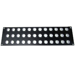 103182-36 - 36-Hole Chassis Mount Audio Rack Panel - 3U