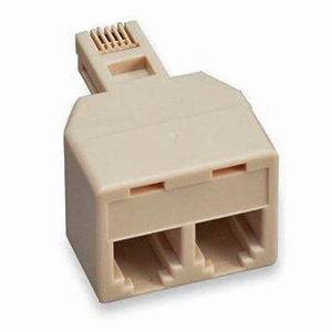 106951IV - Telephone Port Splitter - 1 Male x 2 Female - Ivory