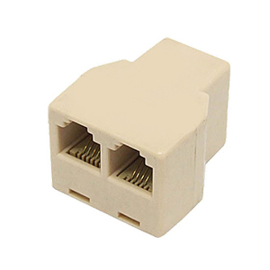 106960IV - Telephone Line Splitter - 1 Female x 2 Female - Ivory