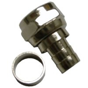 108122M - RG59 - Standard Two Piece Crimp-On F Connector - Male