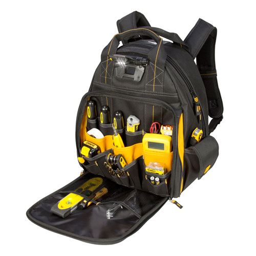 109712 - DeWalt - 57 Pocket Lighted Tool BackPack - DGL523