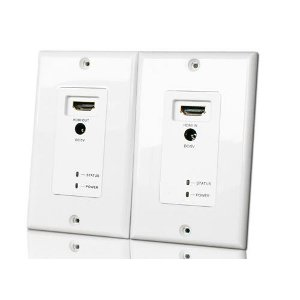102179WH - HDMI Wall Plate Extender over CAT5e/6 - White