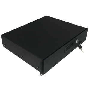 "120242BK - 19"" Rack Drawer w/Lock and Key - 2U (3.5"")"