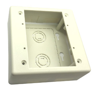 120520 - Double Gang Surface Box for Raceway - Office White