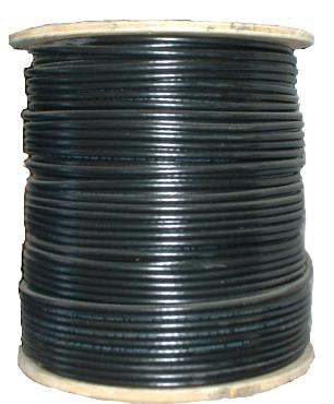 140190 - Siamese RG6 Coax Cable, Riser (CMR), 95% Copper Braid Shielding + 18/2 Power Wire  - 1000 Ft