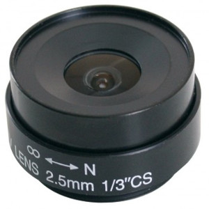 "245830 - CS Mount Camera Lens - Fixed IRIS - Fixed Focal - 1/3"", 2.5mm, F2.0"