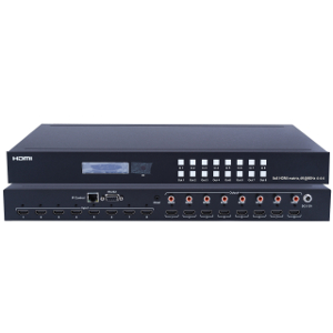 301057 - 8x8 HDMI 2.0 Matrix Switch - 4K, HDR, HDCP 2.2 Support, Digital Audio Extractor, IP or RS232 Control