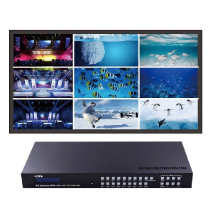 301069 - 9x9 Seamless HDMI Matrix Switch with Digital Coaxial Audio Extraction and 3x3 Multi-View