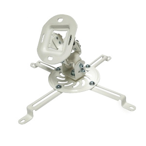 309076WH - Universal Projector Ceiling Mount - 30 lbs Capacity - White