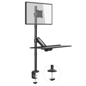 309280 - Sit - Stand Single Monitor Workstation (Clamp or Grommet Style Mounting)