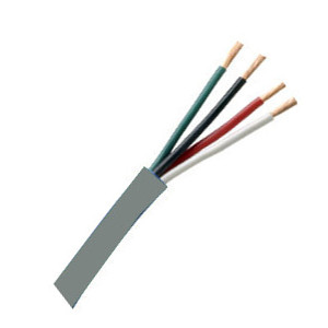 155544GY - Security Wire - 16 AWG/4 Conductor, CL3R, Unshielded, Stranded Bare Copper, 1000ft - Grey